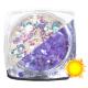 Lentejuelas fotocromáticas Komilfo Mix-004, Beige/Violeta, 2,5 g.
