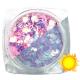 Lentejuelas fotocromáticas Komilfo Mix-006, Rosa/Violeta, 2,5 g.